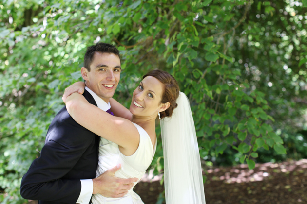 Pete and Kristie on their wedding day