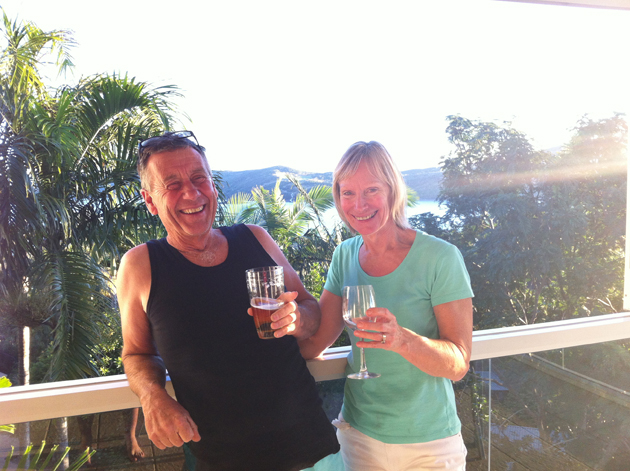 Mum and Dad relaxing in Hamilton Island
