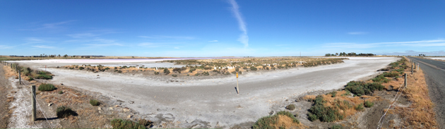 Panorama of the salt lake we will pass on Day 2.  Click to see a bigger version.