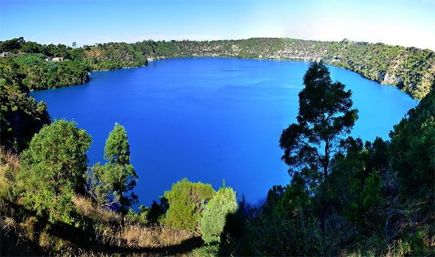 The Blue Lake in Mount Gambier