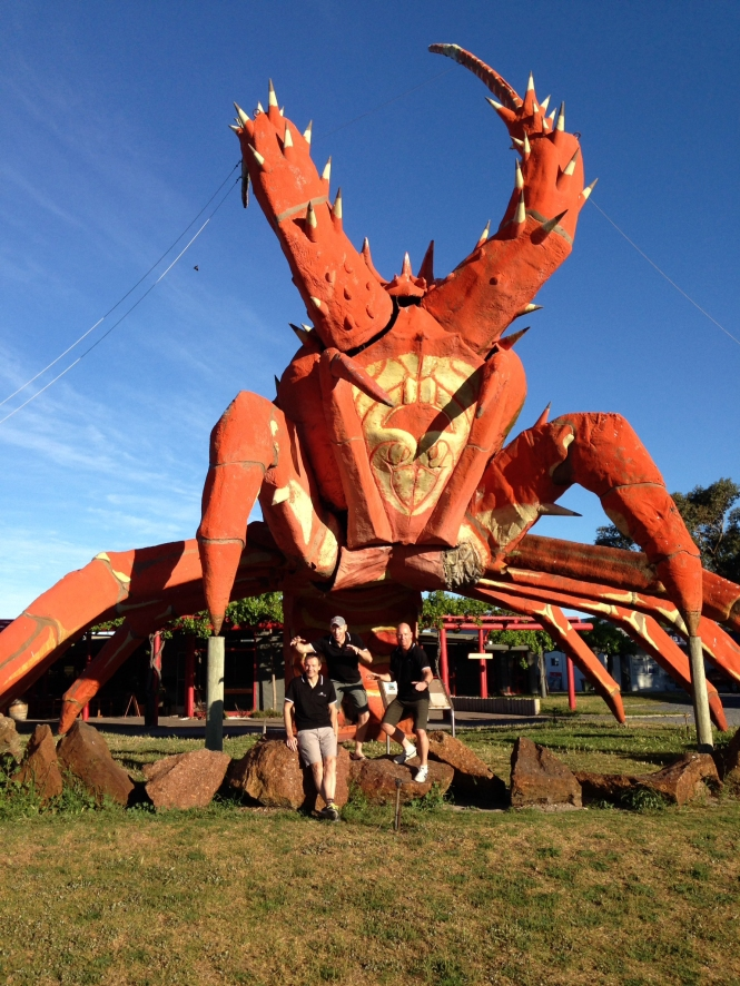 The Big Lobster outside the Kingston Lobster Motel