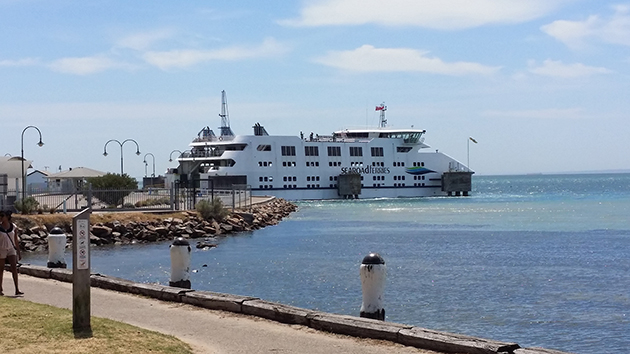 Queenscliff Sorrento Ferry at the Sorrento Terminal